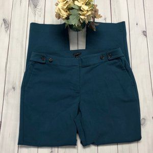 Ann Taylor Factory Size 10 Teal Dress Pants